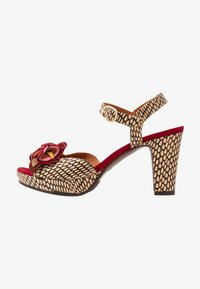 Chie Mihara - EKUNE - High heeled sandals - natur/rojo - 1