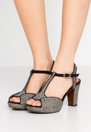 EDUNI - Højhælede sandaletter / Højhælede sandaler - dias gold