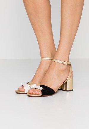LUCANO - Sandals - leche/oro