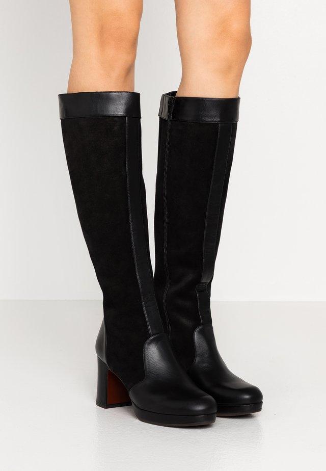 HERAL - Platåstøvler - black