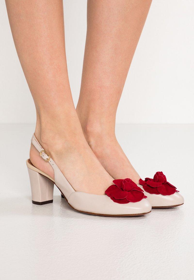 Chie Mihara - TIAMO - Classic heels - alfa beige/rojo/shina gold