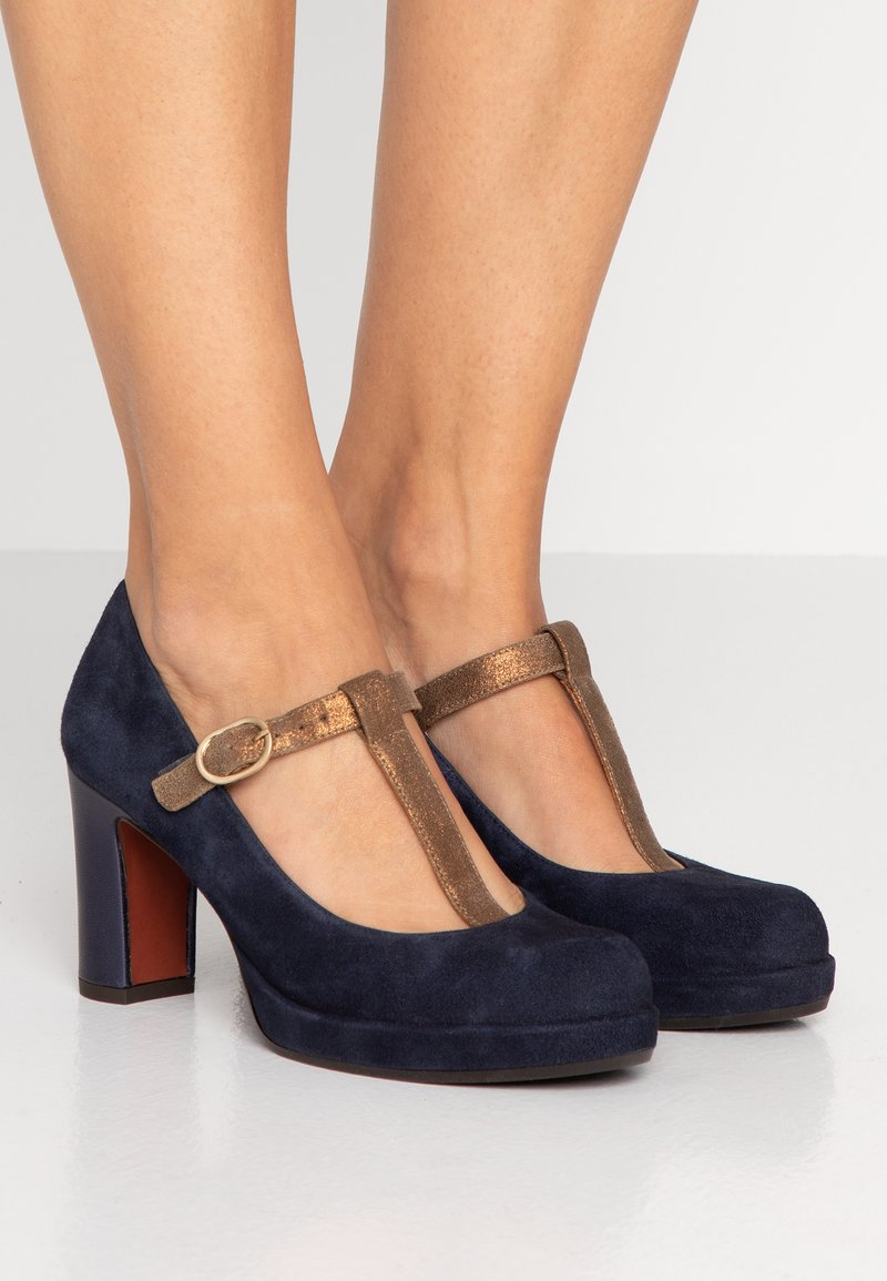 Chie Mihara - JUNO - Plateaupumps - nuit/gloss bronce/picasso navy