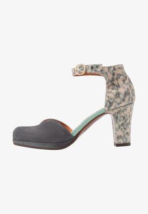Platform heels - titanio/stone/acqua
