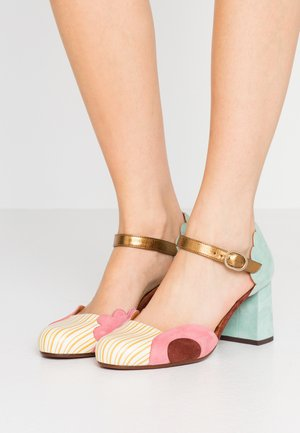 MUSITA - Classic heels - sun/cherry/terra/acqua