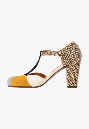 URIT - Classic heels - cement/zeus ocre/jansen leche/kassy natur