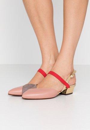ROMANE - Classic heels - nude/humo/oro/rojo