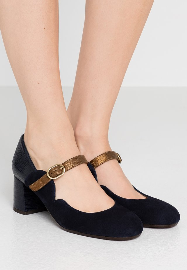 POL - Classic heels - noche/palais navy/gloss bronce