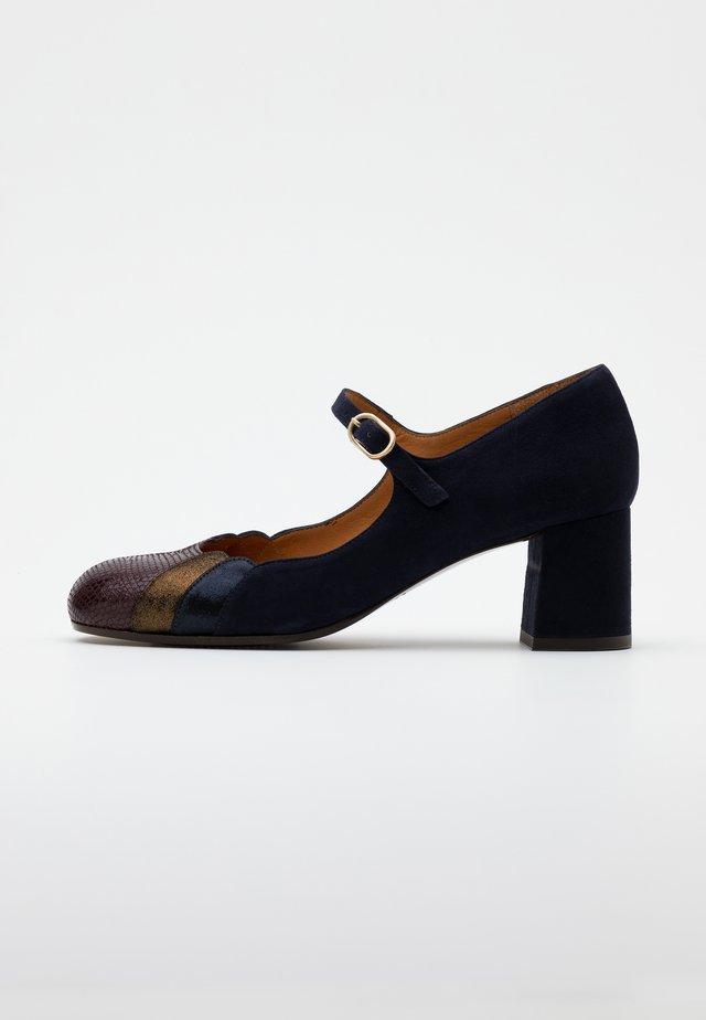 POPA - Classic heels - grape/bronce/navy/noche
