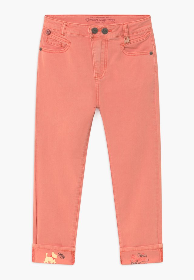 JEAN COULEUR - Jeans slim fit - coral