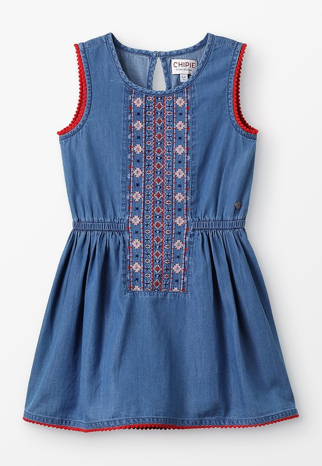ROBE CHASUBLE - Denim dress - bleu nuit