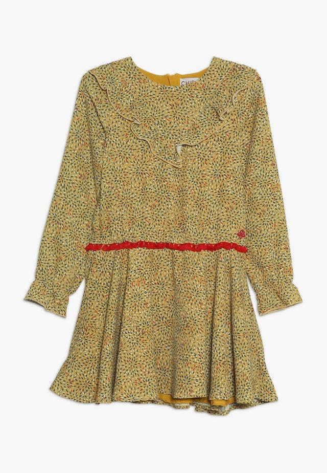 Sukienka letnia - mustard