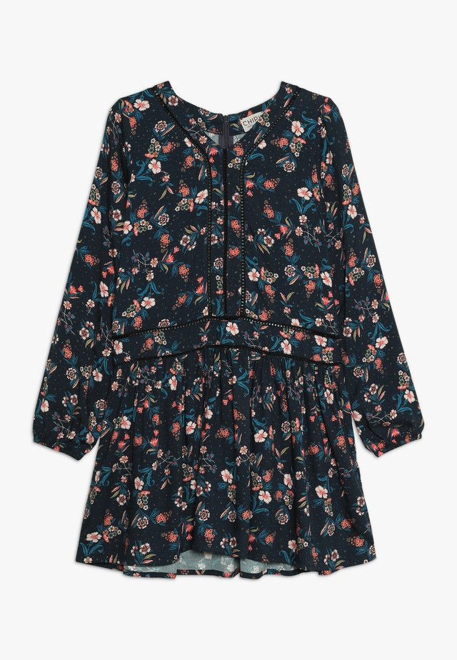 DRESS PRINTED - Kjole - midnight blue