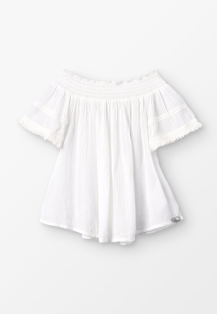 Chipie - SMOCKE - Camiseta básica - blanc casse