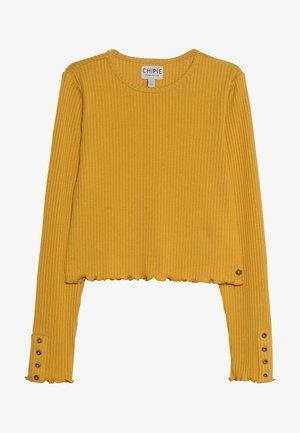 TEE - Top sdlouhým rukávem - mustard