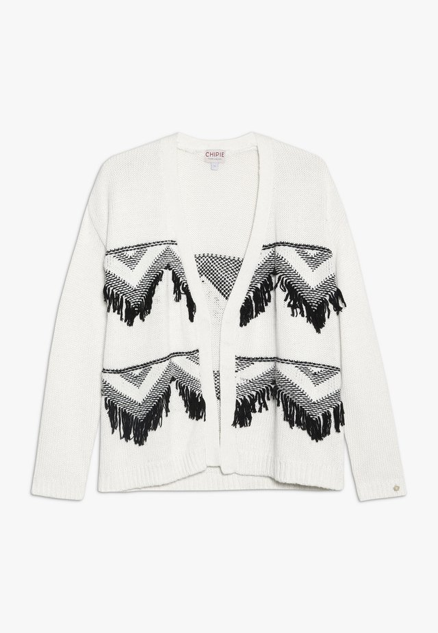 GILET LONG - Strickjacke - off-white