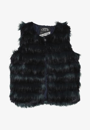 GILET FAKE FUR - Vesta - blue petrol