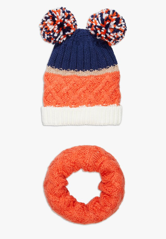 HAT SNOOD SET - Halsduk - mandarine