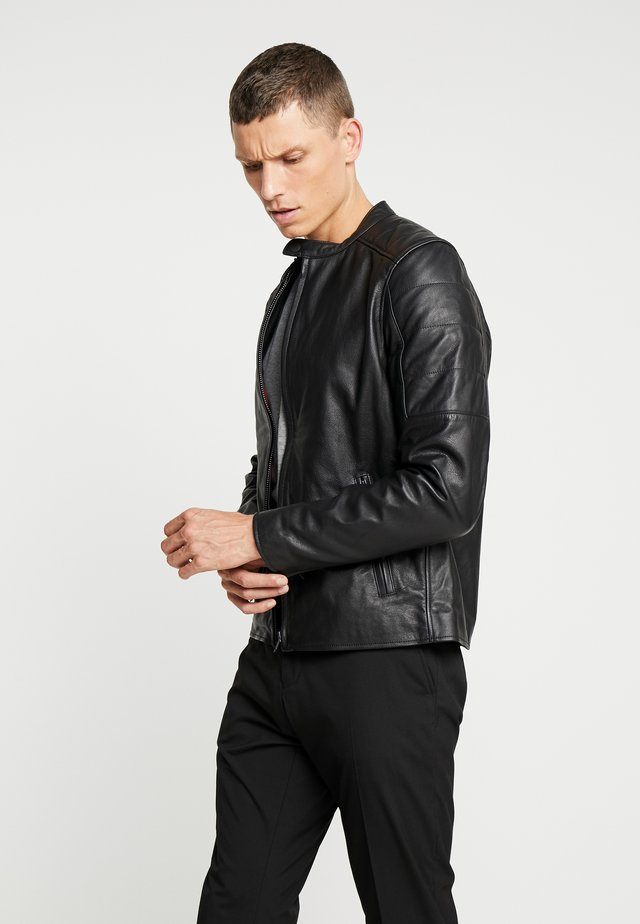 RIDE - Leather jacket - noir