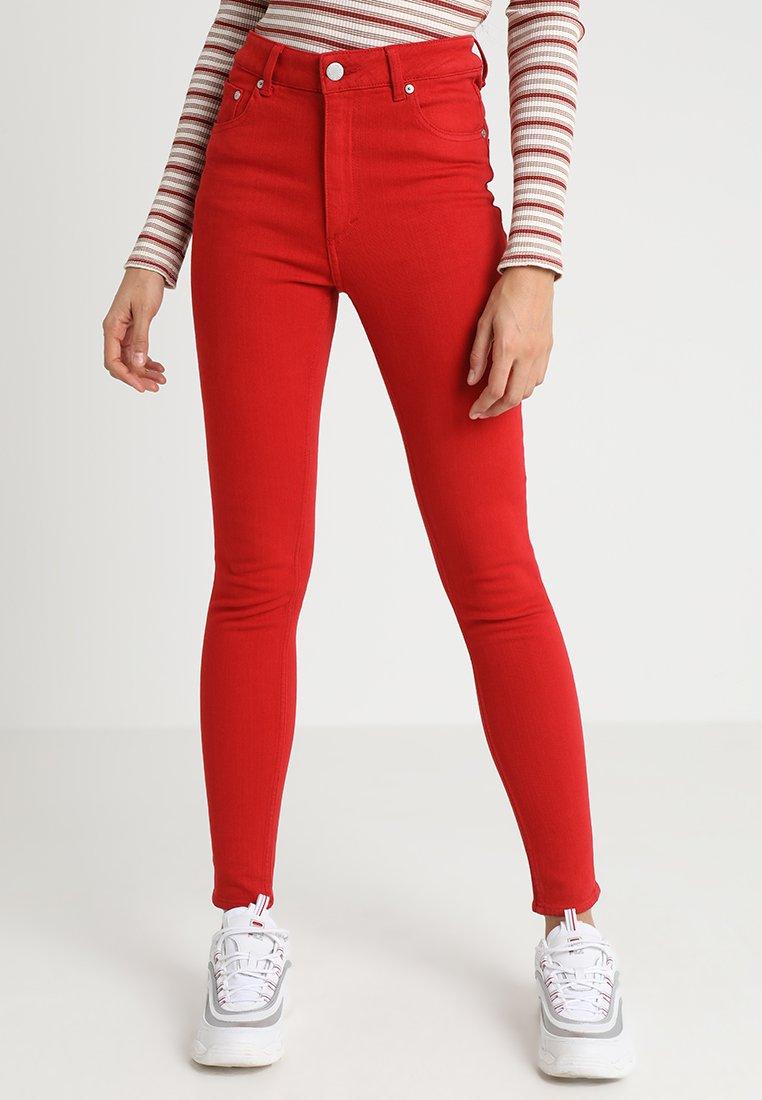 Cheap Monday - HIGH SKIN - Pantaloni - fiction red