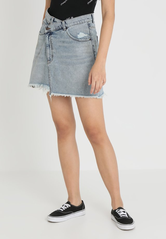 SLANT SKIRT - Jupe en jean - hex blue