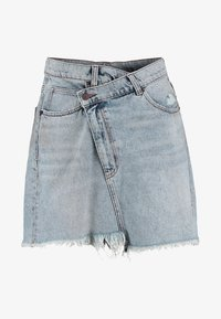 Cheap Monday - SLANT SKIRT - Farkkuhame - hex blue - 4