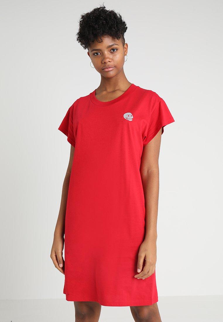 Cheap Monday - MEDIA DRESS TINY SKULL - Jerseykjoler - fiction red