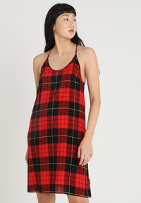 Cheap Monday - GENTLE DRESS TARTAN CHECK - Vestito estivo - scarletred - 0