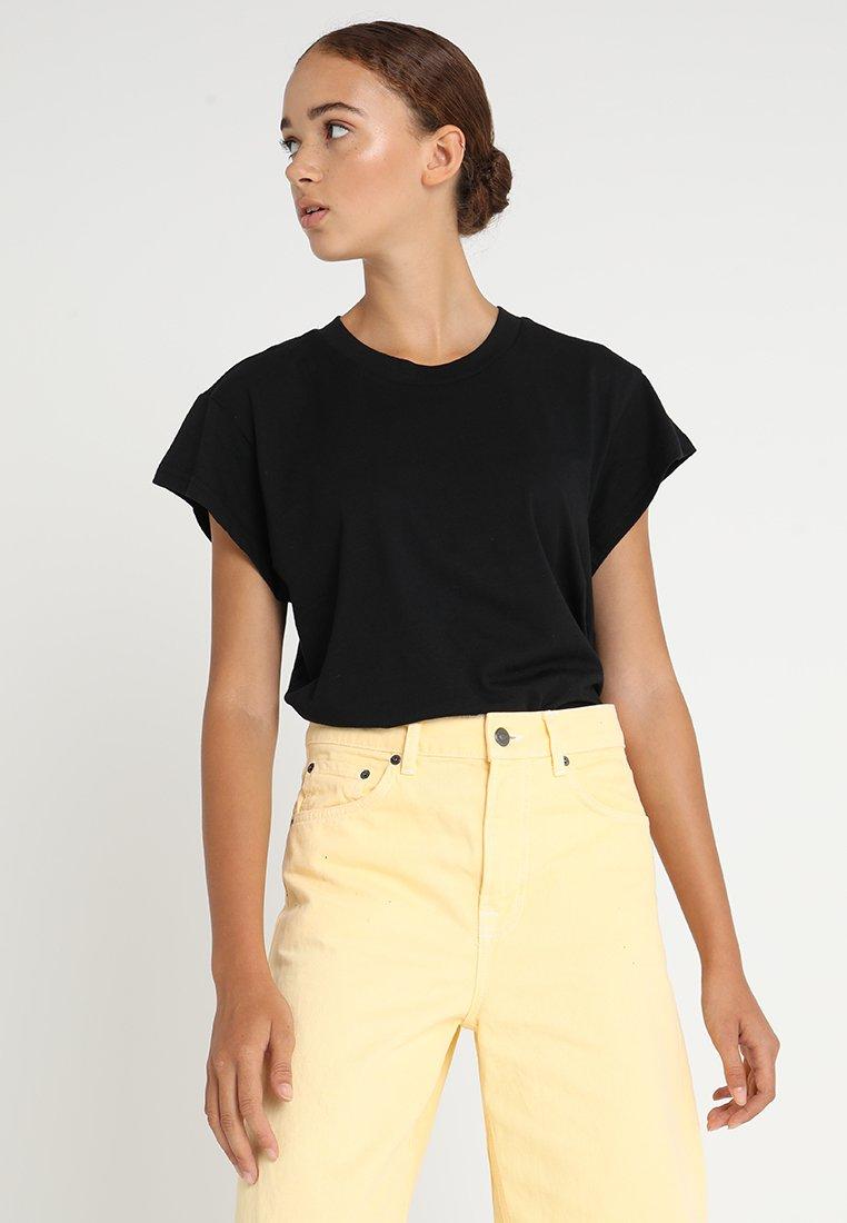 Cheap Monday - SCREEN - T-shirt basic - black