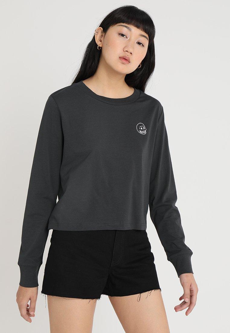 Cheap Monday - BESIDE TINY SKULL - Long sleeved top - offblack
