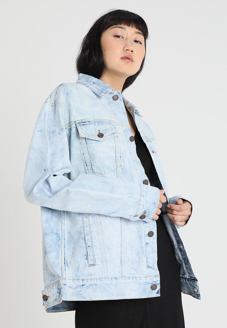 Cheap Monday - UPSIZE JACKET - Denim jacket - blue spider