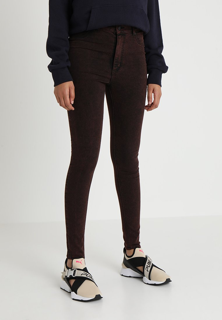Cheap Monday - HIGH SPRAY  ORANGE SMOKE - Jeans Skinny Fit - black
