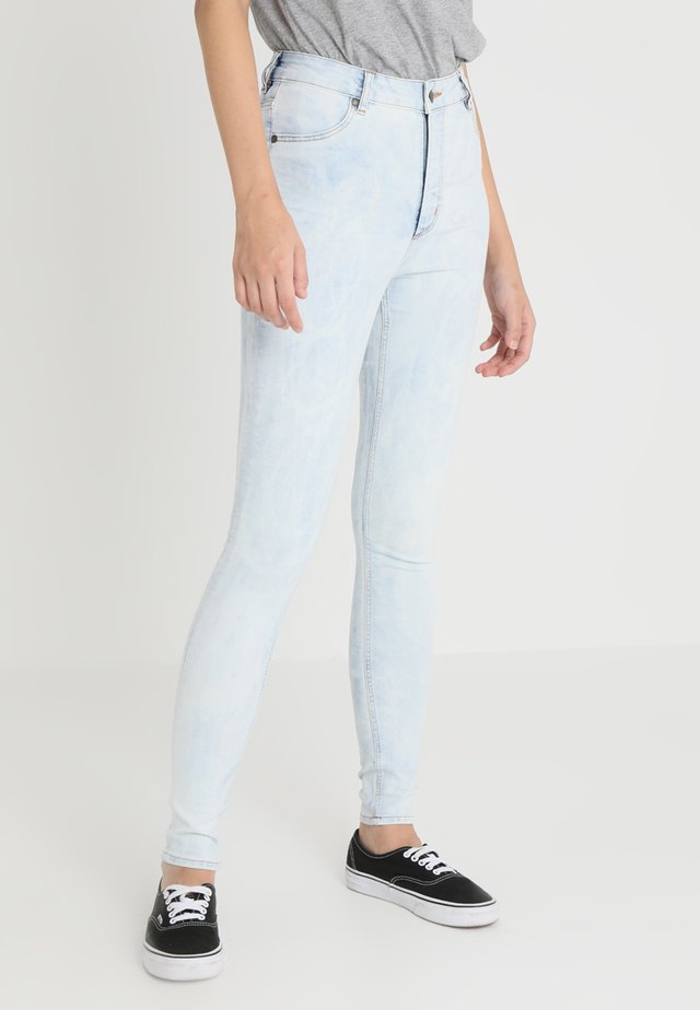 HIGH SPRAY - Jeggings - blue spider