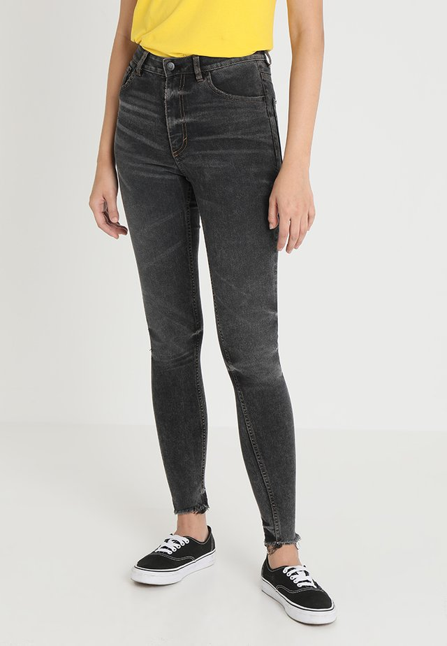 HIGH SKIN - Jeans Skinny - black earth