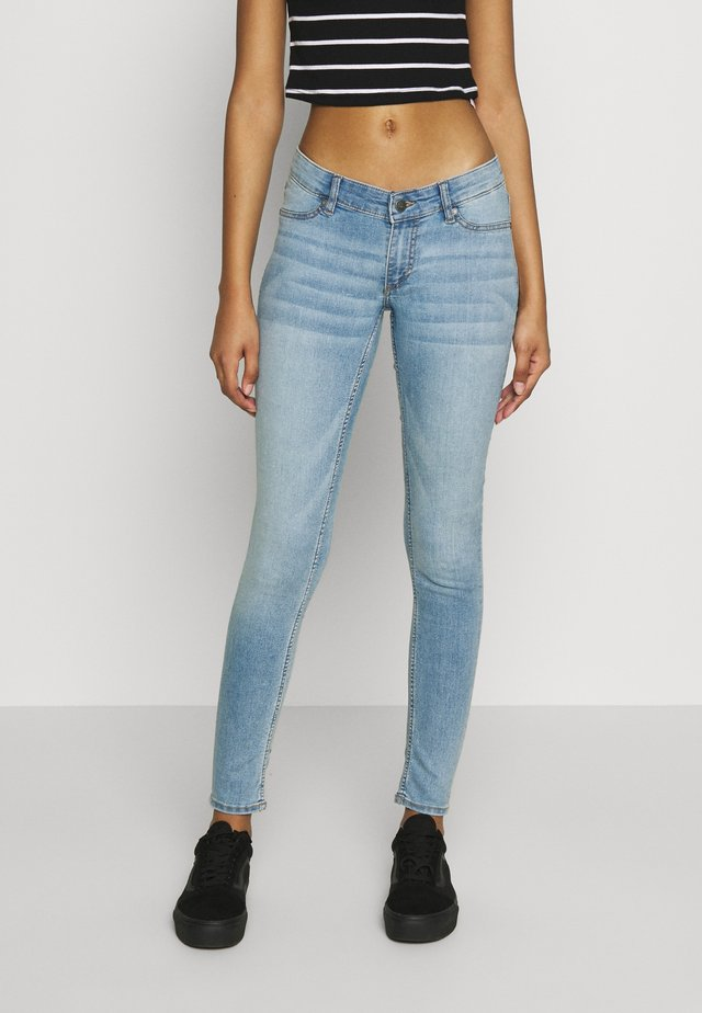 MID SPRAY STONE BLEACH - Jeggings - blue