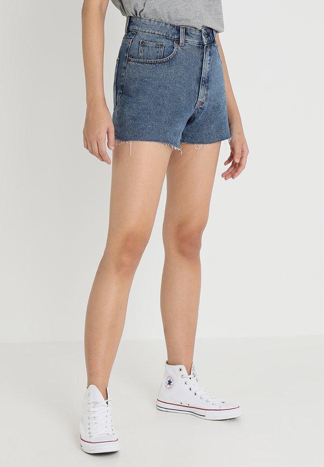 DONNA - Denim shorts - blue denim