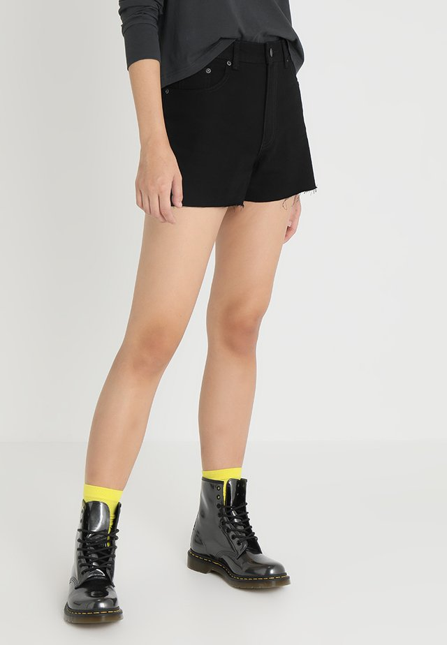 DONNA - Shorts di jeans - deep black