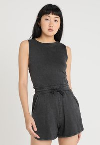 Cheap Monday - SMILE WASHPLAYSUIT - Tuta jumpsuit - black - 0