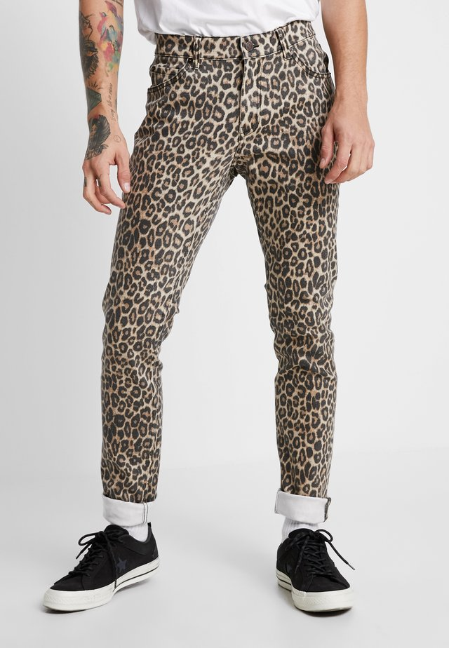 TIGHT - Jean slim - cheetah sand