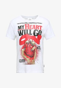 Cheap Monday - STANDARD TEE HEART POSTER - T-shirt con stampa - white - 3