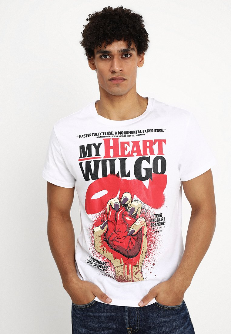 Cheap Monday - STANDARD TEE HEART POSTER - T-shirt con stampa - white