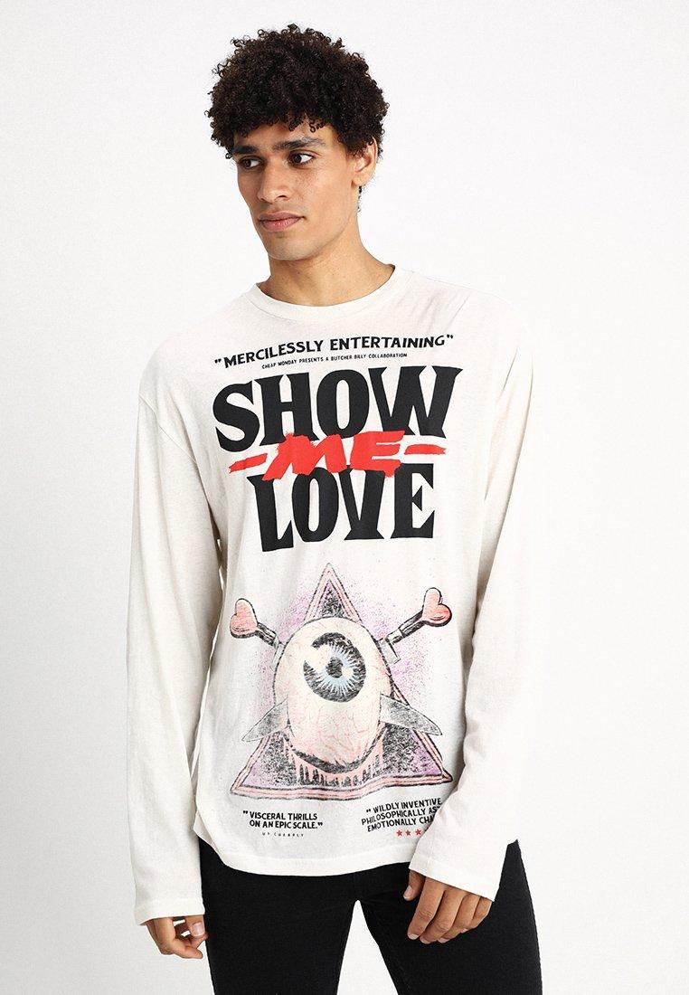 Cheap Monday - SETTING TEE SHOW LOVE - Maglietta a manica lunga - strange white