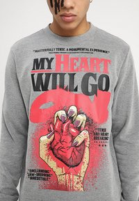 Cheap Monday - WORTH HEART POSTER - Felpa - grey - 3