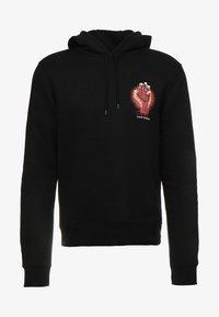 Cheap Monday - WORTH HOOD HEART LOGO - Sweat à capuche - black - 3