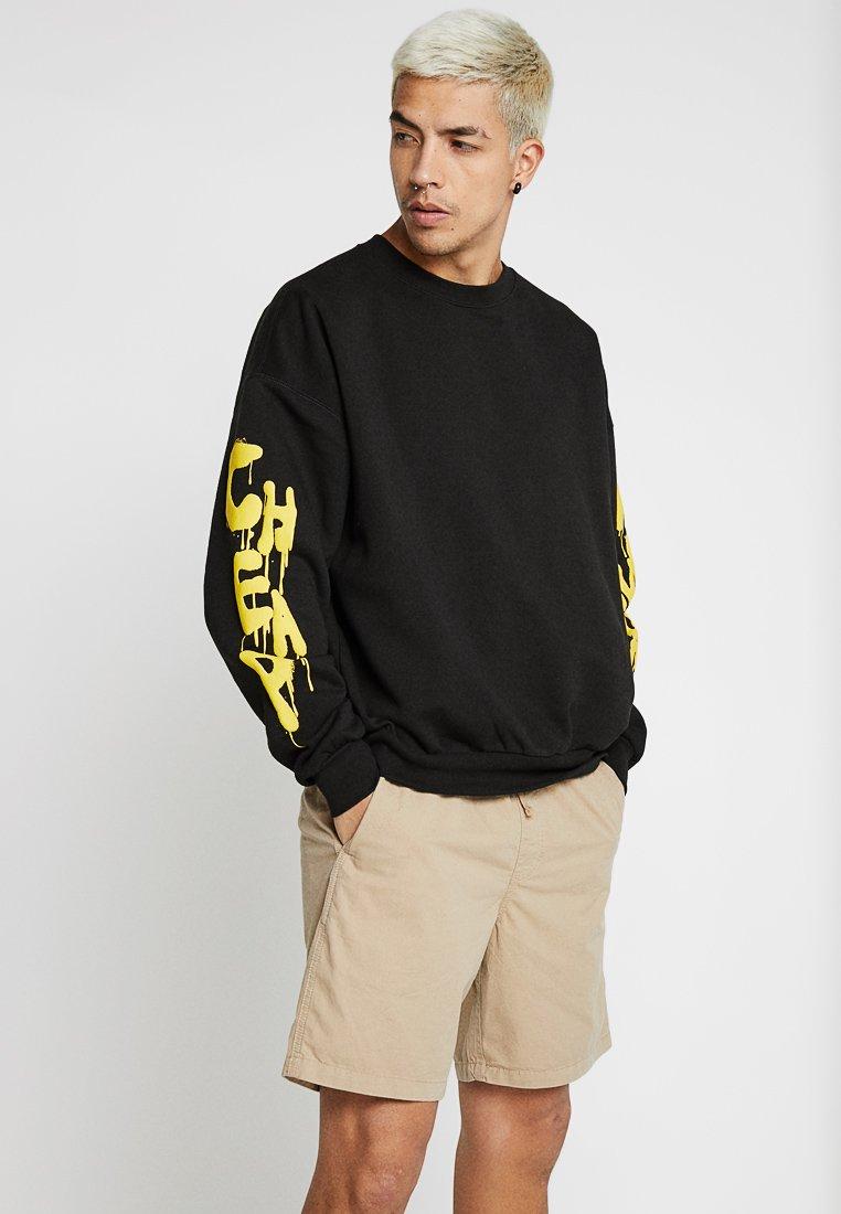 Cheap Monday - GOAL DRIP SADLY - Sweatshirt - black