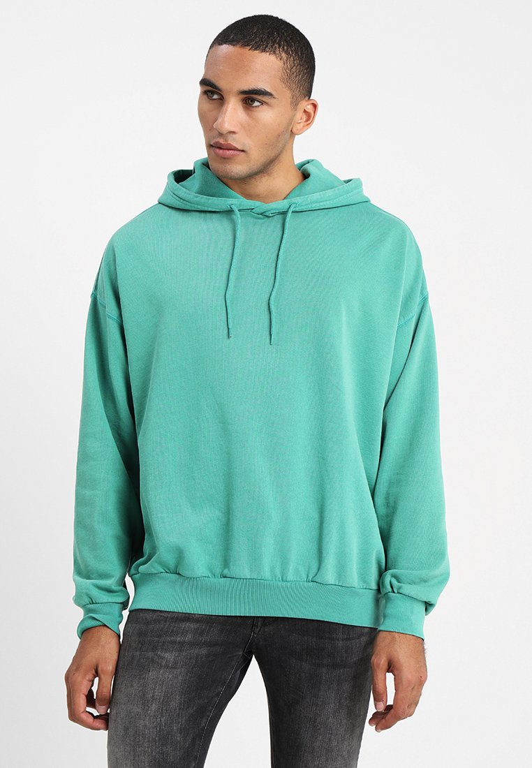 Cheap Monday - GOAL HOOD USED WASH - Hoodie - grassgreen