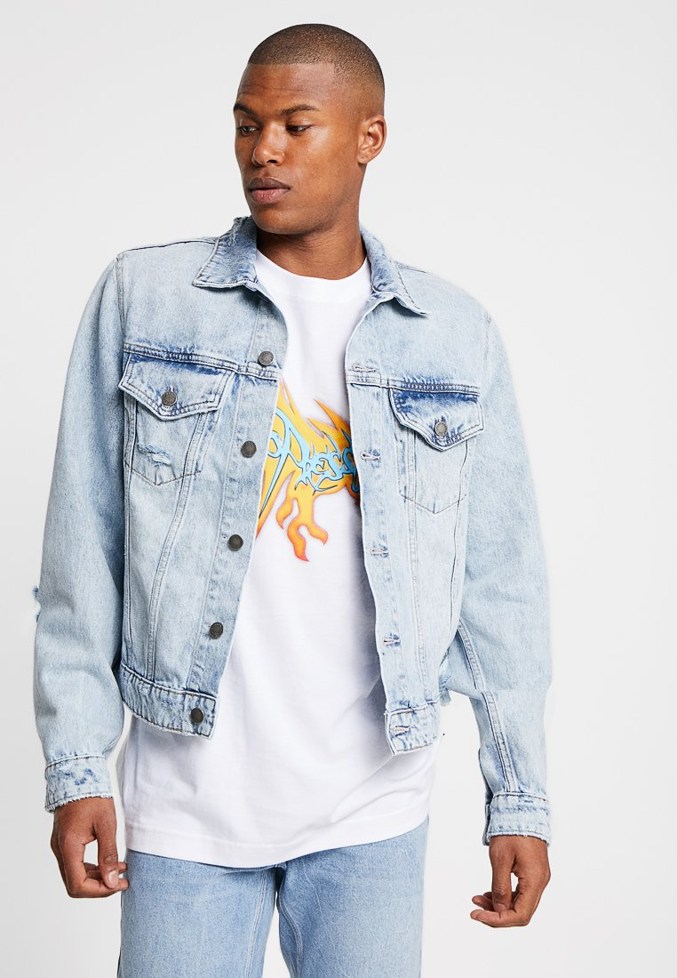 Cheap Monday - LEGIT JACKET TRASHED - Giacca di jeans - air blue