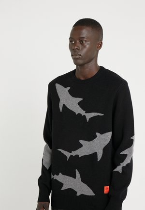 SHARK CREW - Strickpullover - black