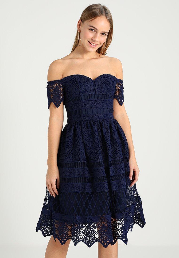 Chi Chi London Petite - ESTELLE - Cocktail dress / Party dress - navy