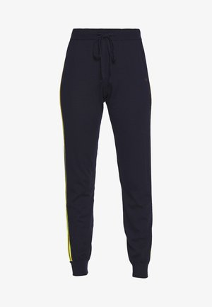 VERTICAL STRIPE TRACK PANT - Tracksuit bottoms - navy/berry/fluro yellow