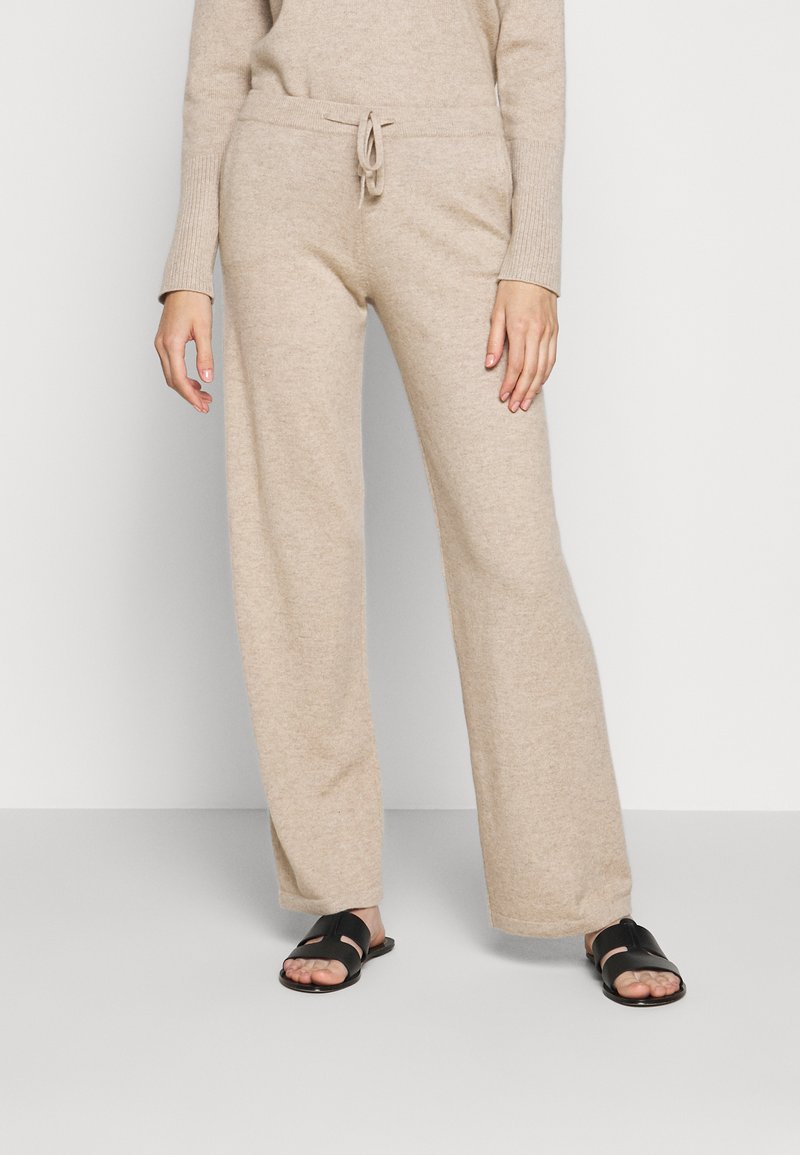 CHINTI & PARKER - ESSENTIALS WIDE LEG PANT - Broek - oatmeal